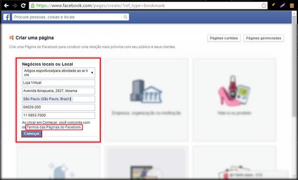 ae3440be0 Como criar uma pagina no facebook para integrar minha loja ...